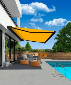 Erhardt J Patio Awning Near A Swimming Pool