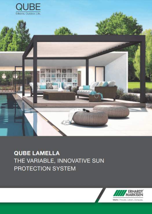 Erhardt Qube Lamella Awnings Brochure Cover