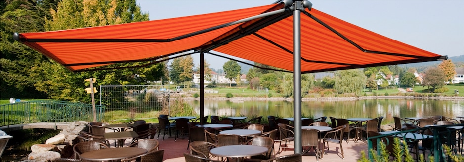 Freestanding Markilux Syncra 2 Fix Awning