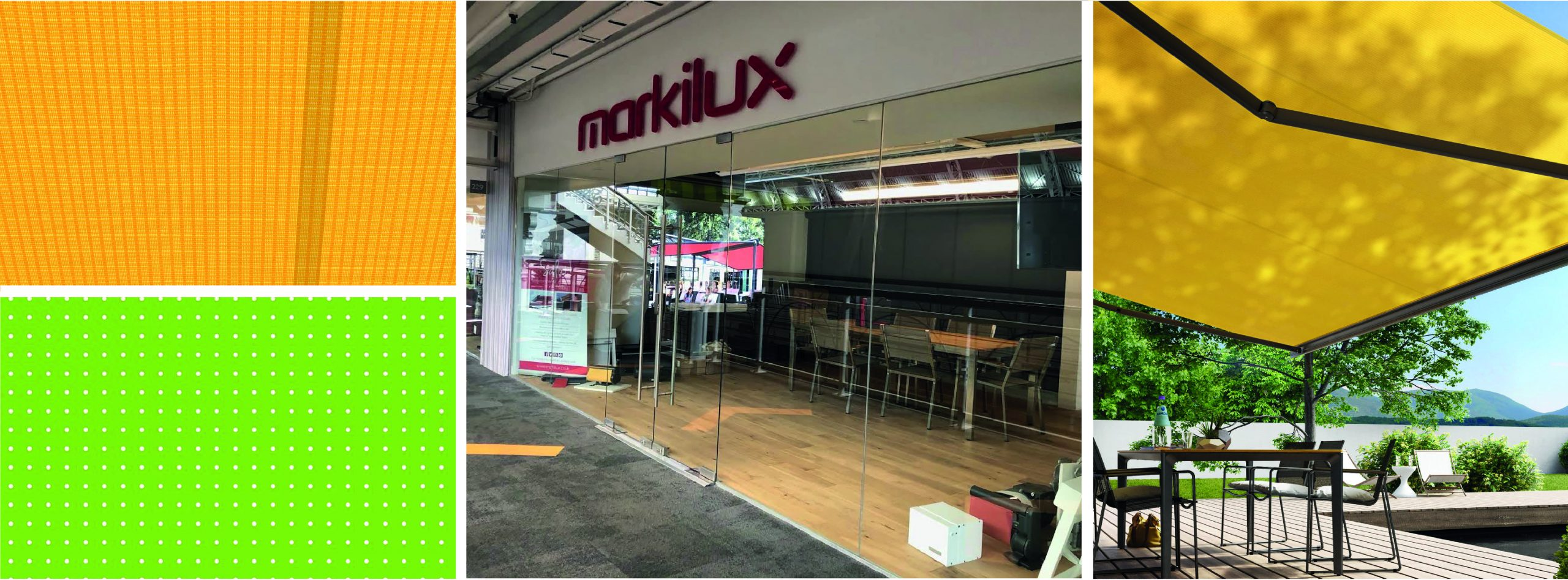 Images from Markilux's London Showroom