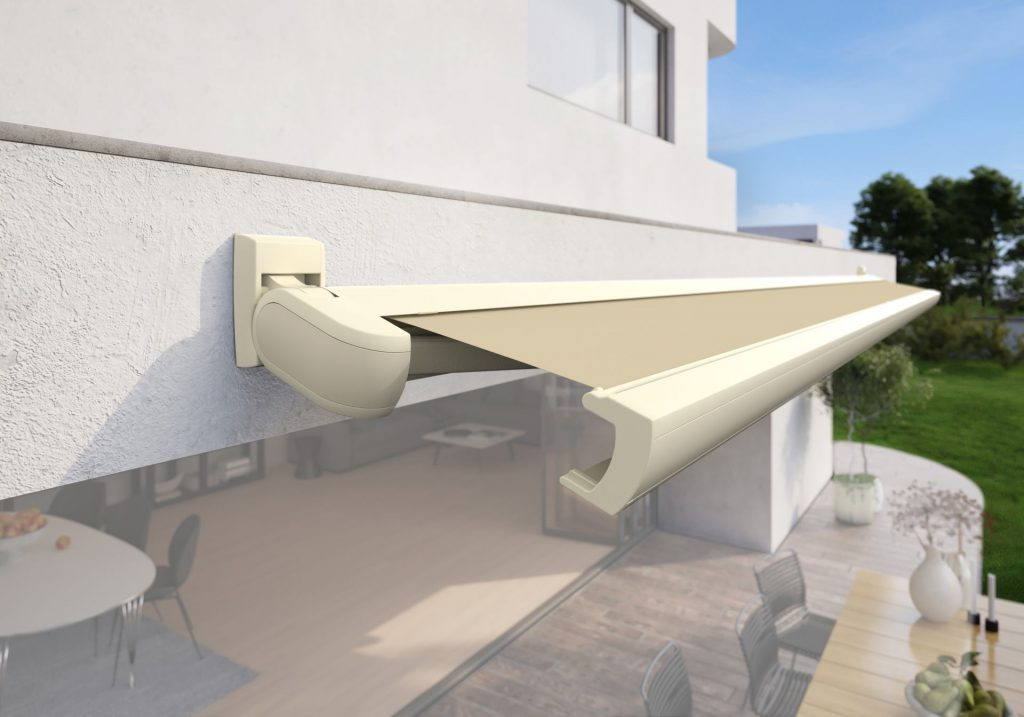Markilux MX 3 Patio Awning Agate Grey Panel Pearl White Panel