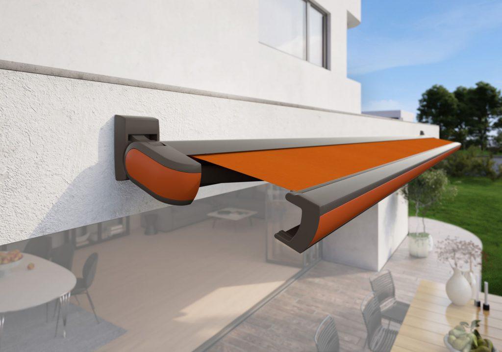 Markilux MX 3 Patio Awning Red Orange Panel