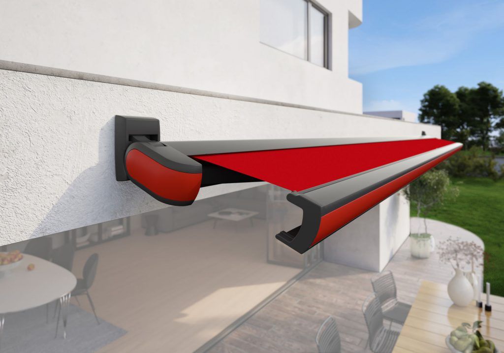 Markilux MX 3 Patio Awning Traffic Red Panel