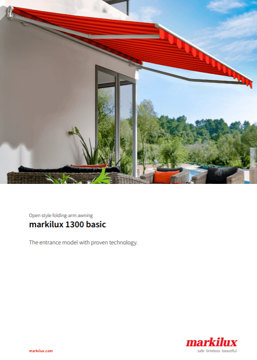Markilux 1300 Sales Manual Cover