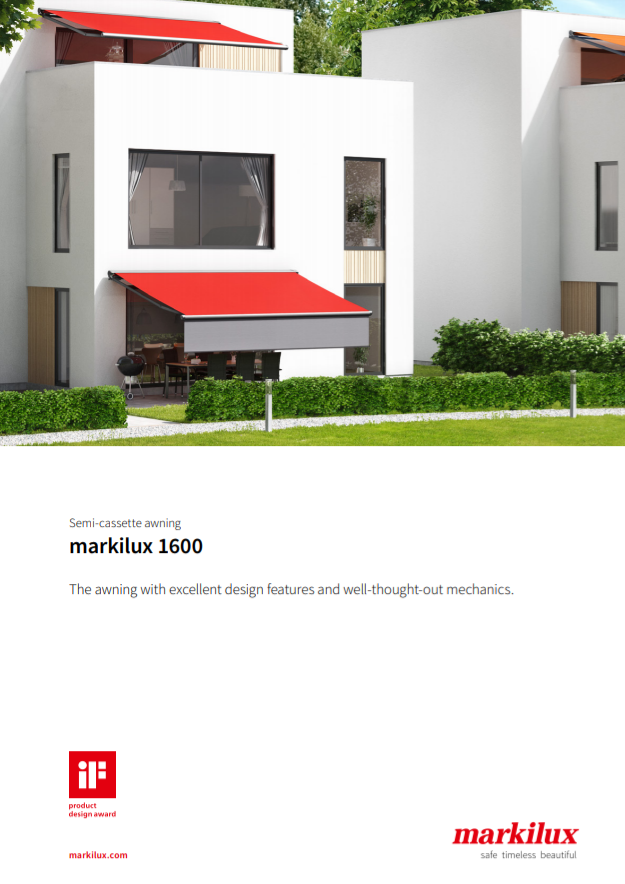 Markilux 1600 Manual Cover