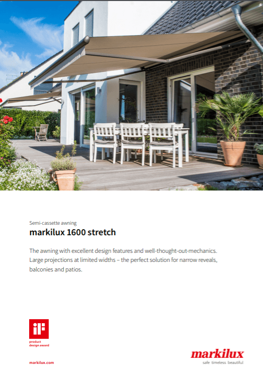 Markilux 1600 Stretch Sales Manual Cover