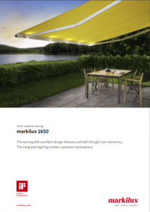 Markilux 1650 Sales Manual Cover