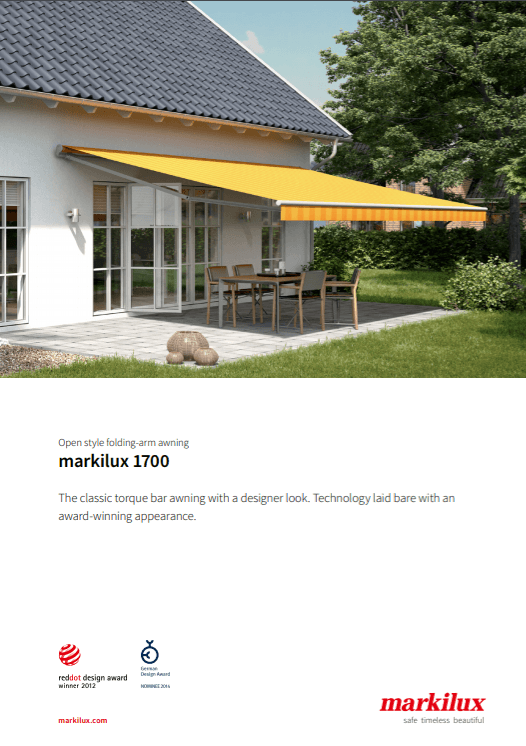 Markilux 1700 Sales Manual Cover