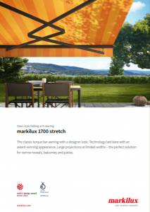 Markilux 1700 Stretch Sales Manual Cover