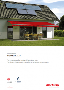 Markilux 1710 Sales Manual Cover