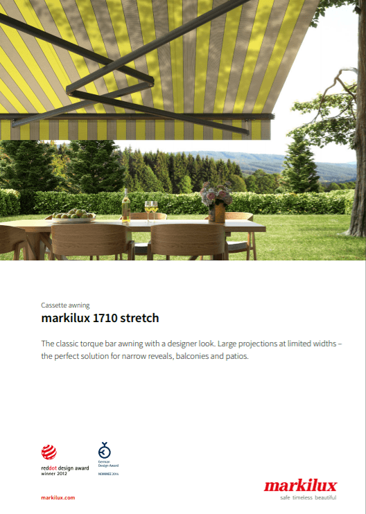 Markilux 1710 Stretch Sales Manual Cover