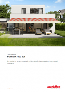 Markilux 3300 Sales Manual Cover