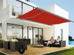 Markilux 5010 with Red Fabric