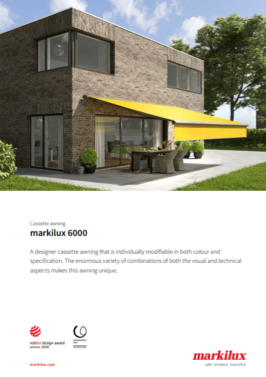 Markilux 6000 Sales Manual Cover