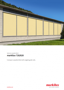 Markilux 720 Sales Manual Cover