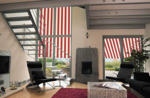 Markilux 760 Vertical Awnings in Living Room