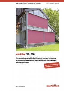 Markilux 760/860 Sales Manual Cover