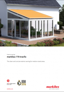 Markilux 770 Tracfix Sales Manual Cover
