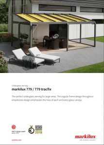 Markilux 779 Brochure Cover