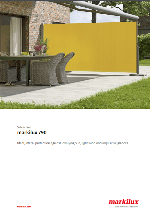 Markilux 790 Manual Cover