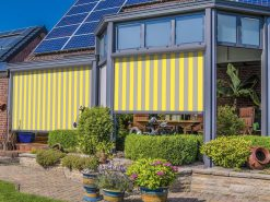 Markilux 869 Vertical Awning Yellow Stripe