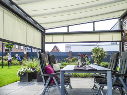 Markilux 869 Vertical Awnings Glass Patio roof