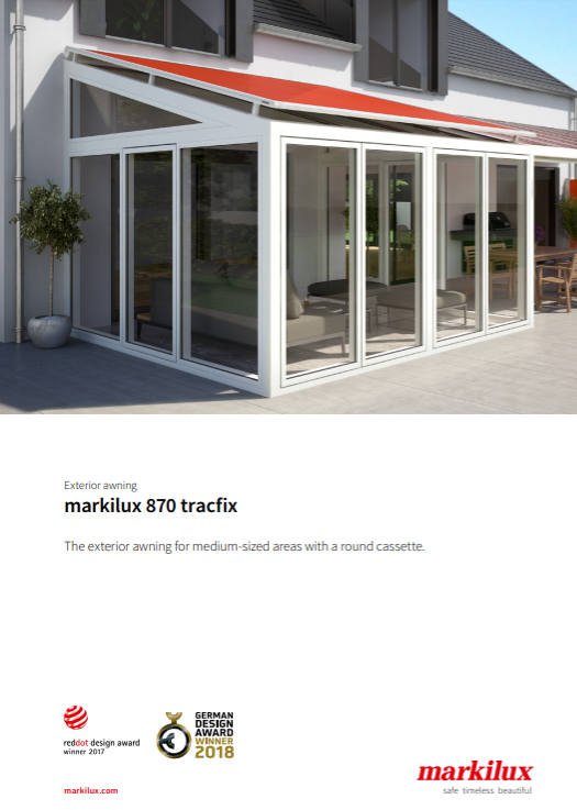 Markilux 870 Tracfix Sales Manual Cover