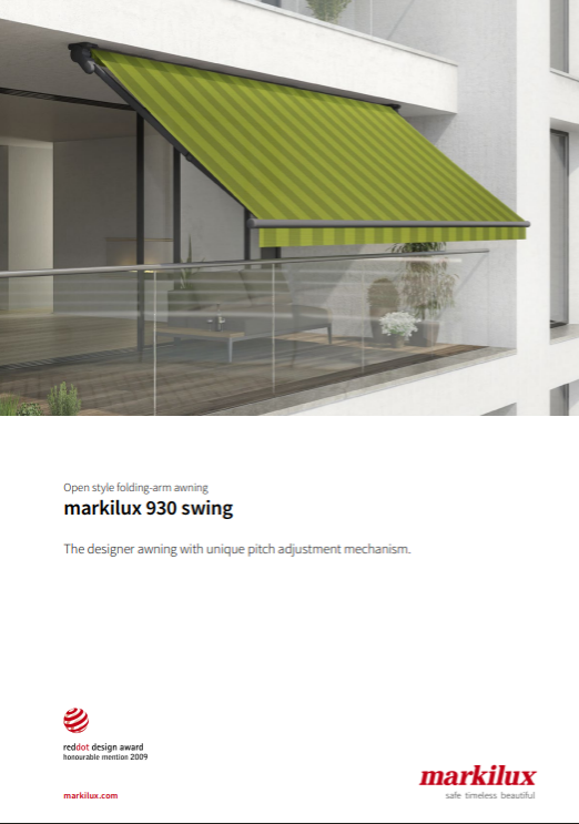Markilux 930 Sales Manual Cover
