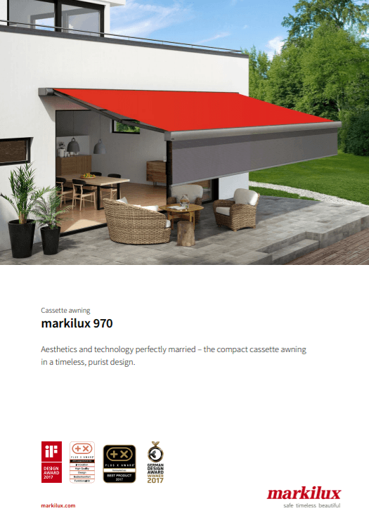 Markilux 970 Sales Manual Cover