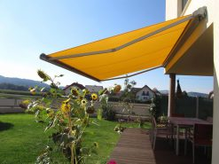 Markilux 990 Wall Mounted Awning on Patio