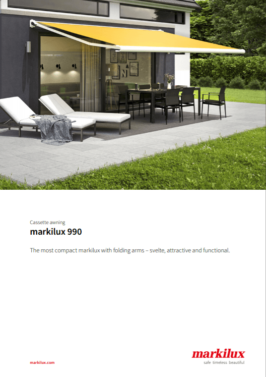 Markilux 990 Sales Manual Cover
