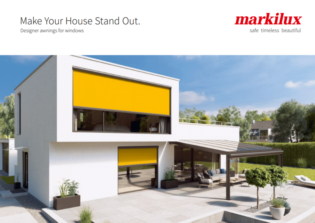 Front Cover of Markilux Awnings for Windows