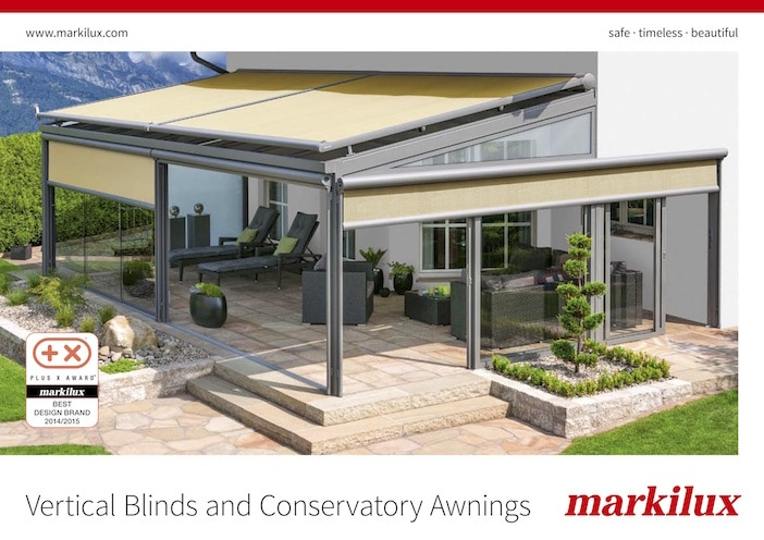 Markilux Conservatory Awnings Brochure Cover