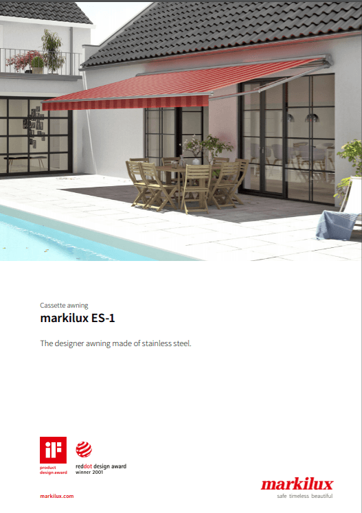 Markilux ES-1 Sales Manual Cover