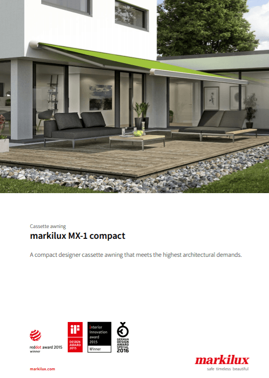 Markilux MX-1 Compact Sales Manual Cover