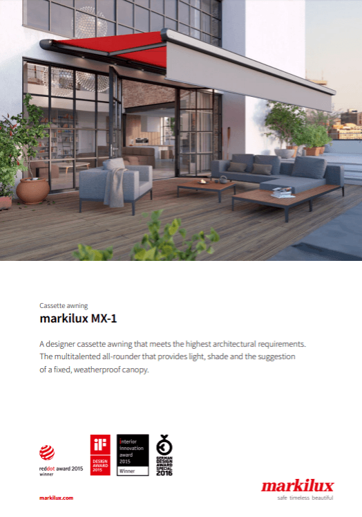 Markilux MX-1 Sales Manual Cover