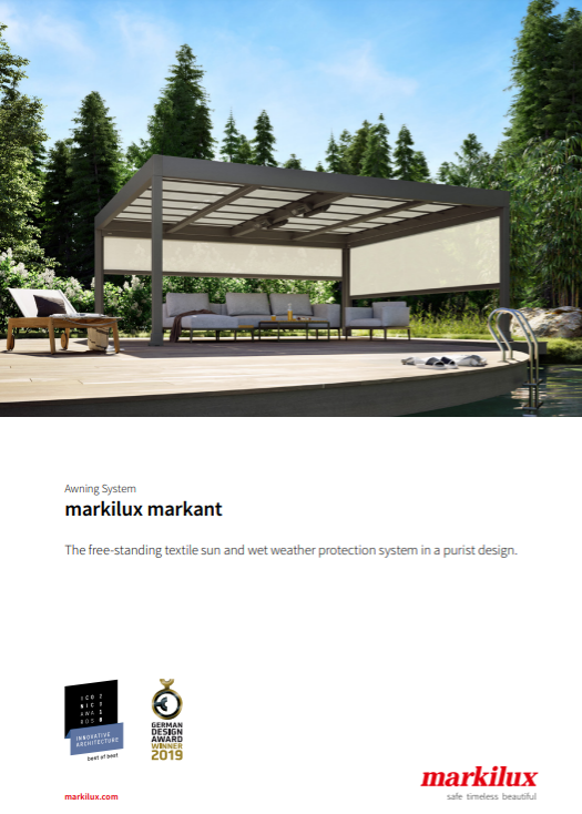 Markilux Markant Sales Manual Cover