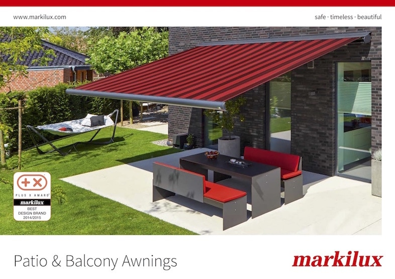 Markilux Patio Balcony Awnings Brochure Cover