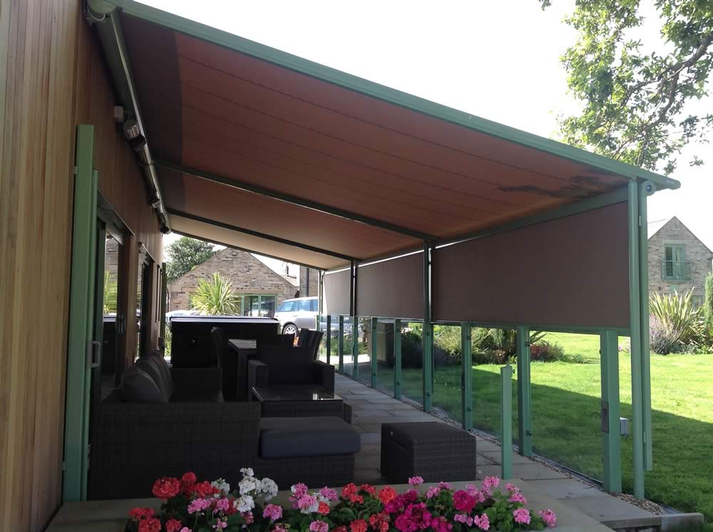 awnings edmonton with melano integrated commercial pergolas screens commercialawnings alberta pergola awning