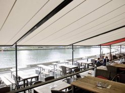 Markilux Pergola Awnings in Restaurant