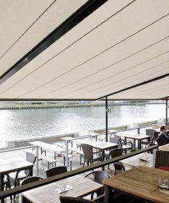 Markilux Pergola Awnings in Restaurant