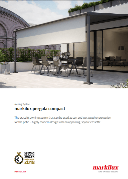 Markilux Pergola Sales Manual Cover