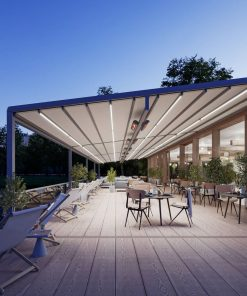 Markilux Pergola Stretch Awning in the Evening