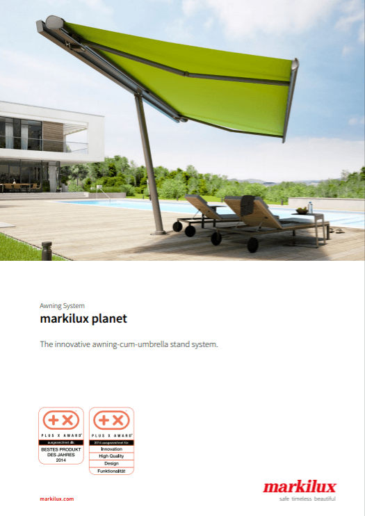 Markilux Planet Sales Manual Cover