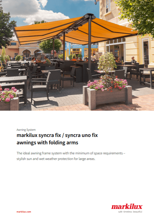 Markilux Syncra Fix Sales Manual Cover