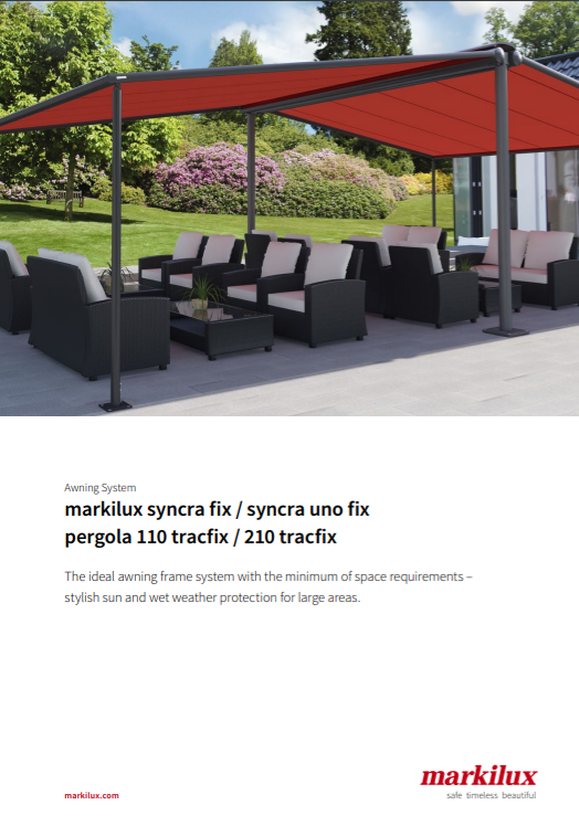 Markilux Syncra Fix Uno Pergola Manual Cove