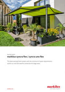 Markilux Syncra Flex Sales Manual Cover