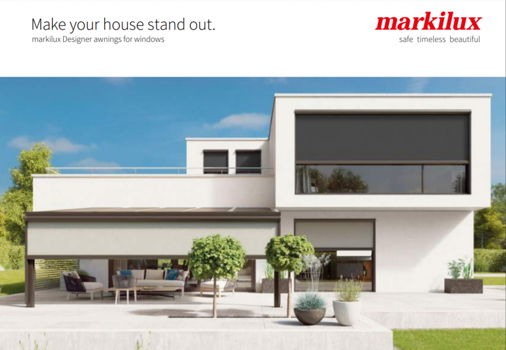 Markilux Awnings For Windows Brochure Cover