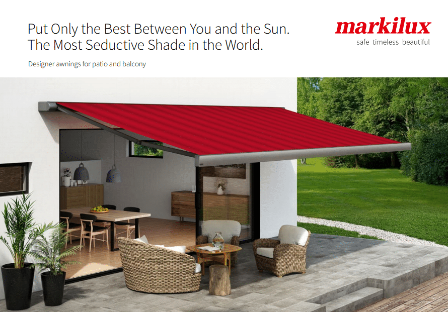 Front Cover of Markilux Patio & Balcony Brochure