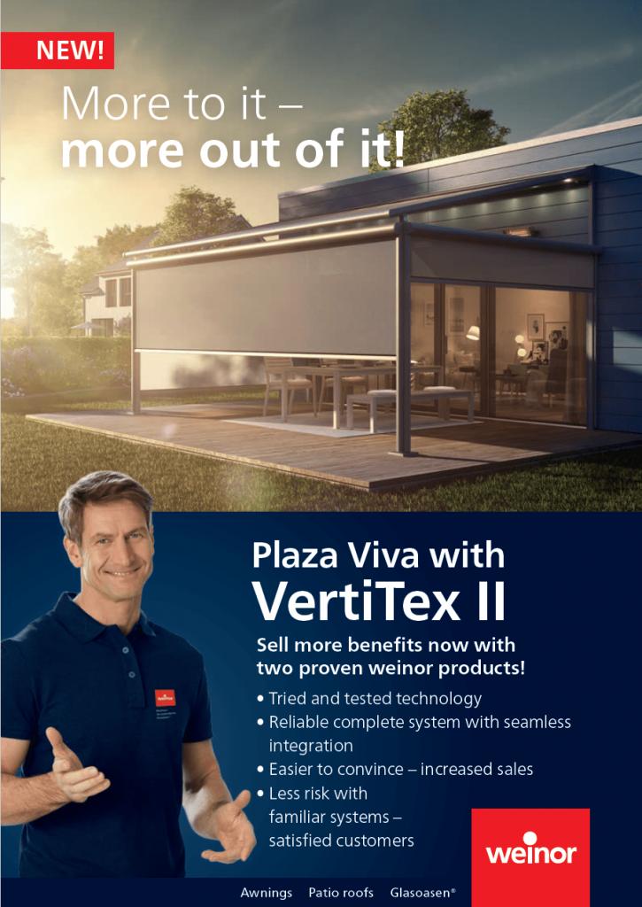 Weinor Plaza Viva II Vertitex Cover